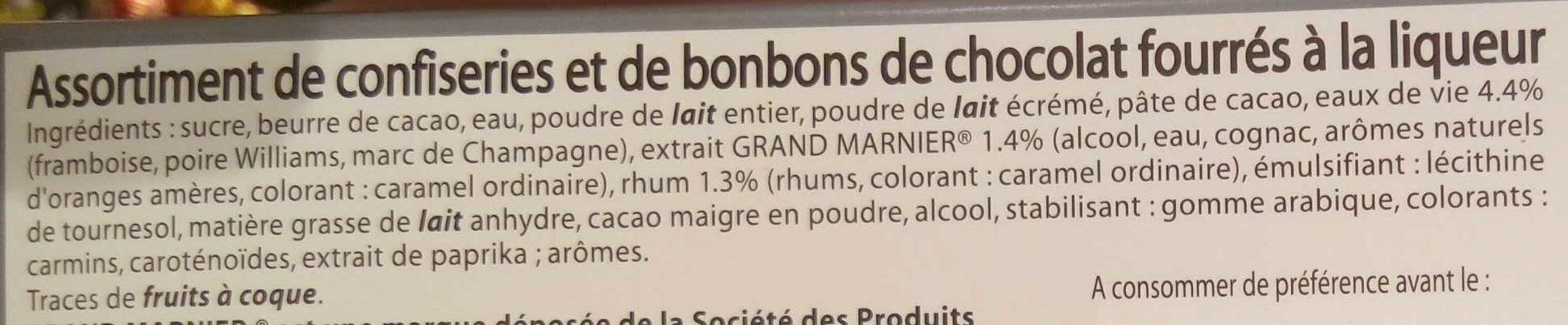 Chardons liqueurs & alcools - Ingredients