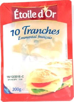 10 tranches Emmental français - Produit