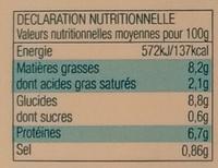 Brandade de Morue parmentière à l'huile d'olive (6,4%) express - Informations nutritionnelles - fr