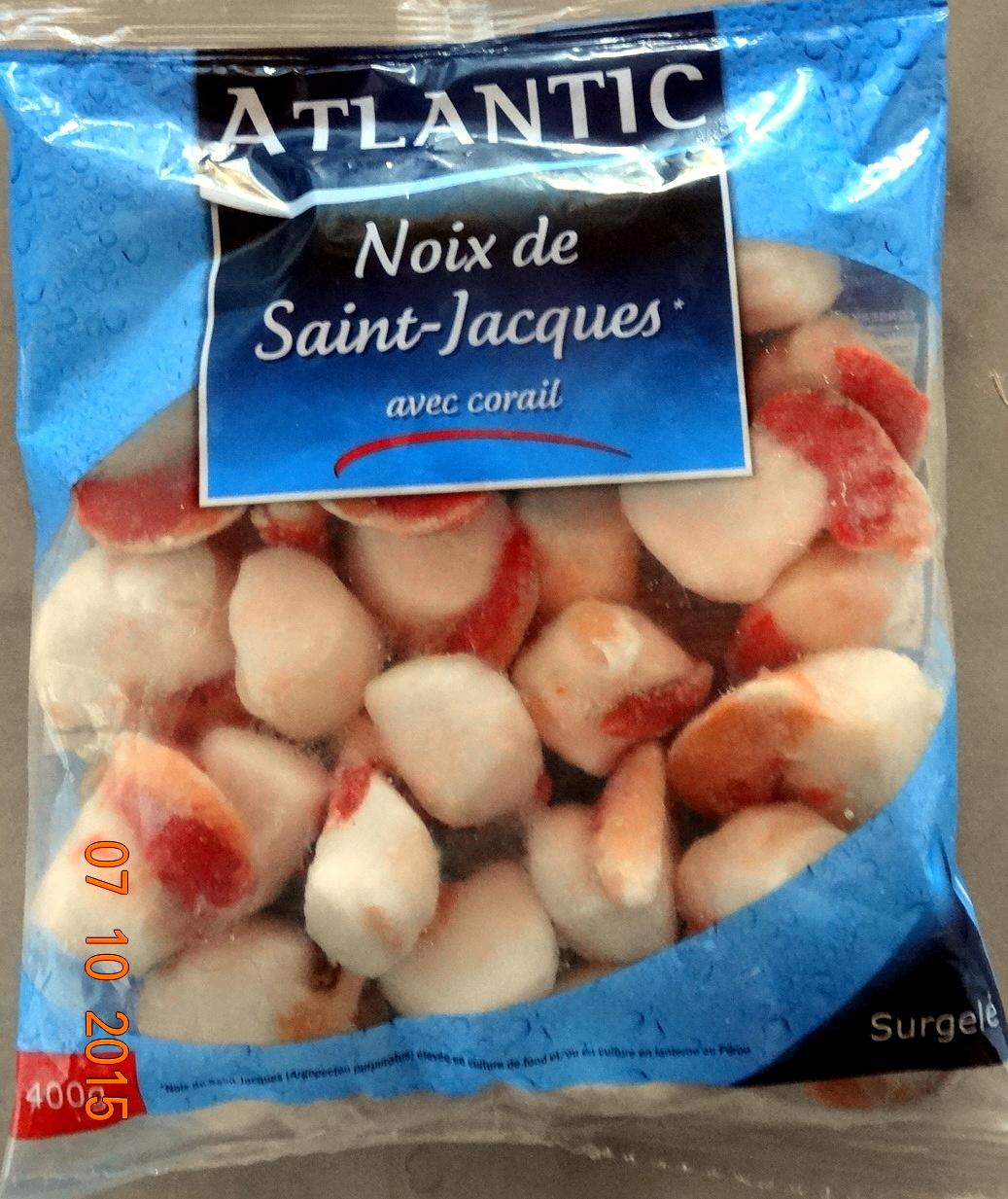 Noix de saint jacques avec corail atlantic 400 g - Cuisiner le corail des coquilles saint jacques ...