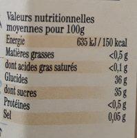 Confiture ananas kiwi - Informations nutritionnelles - fr