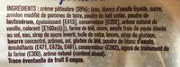 Chinois Crème Pâtissière - Ingrédients - fr