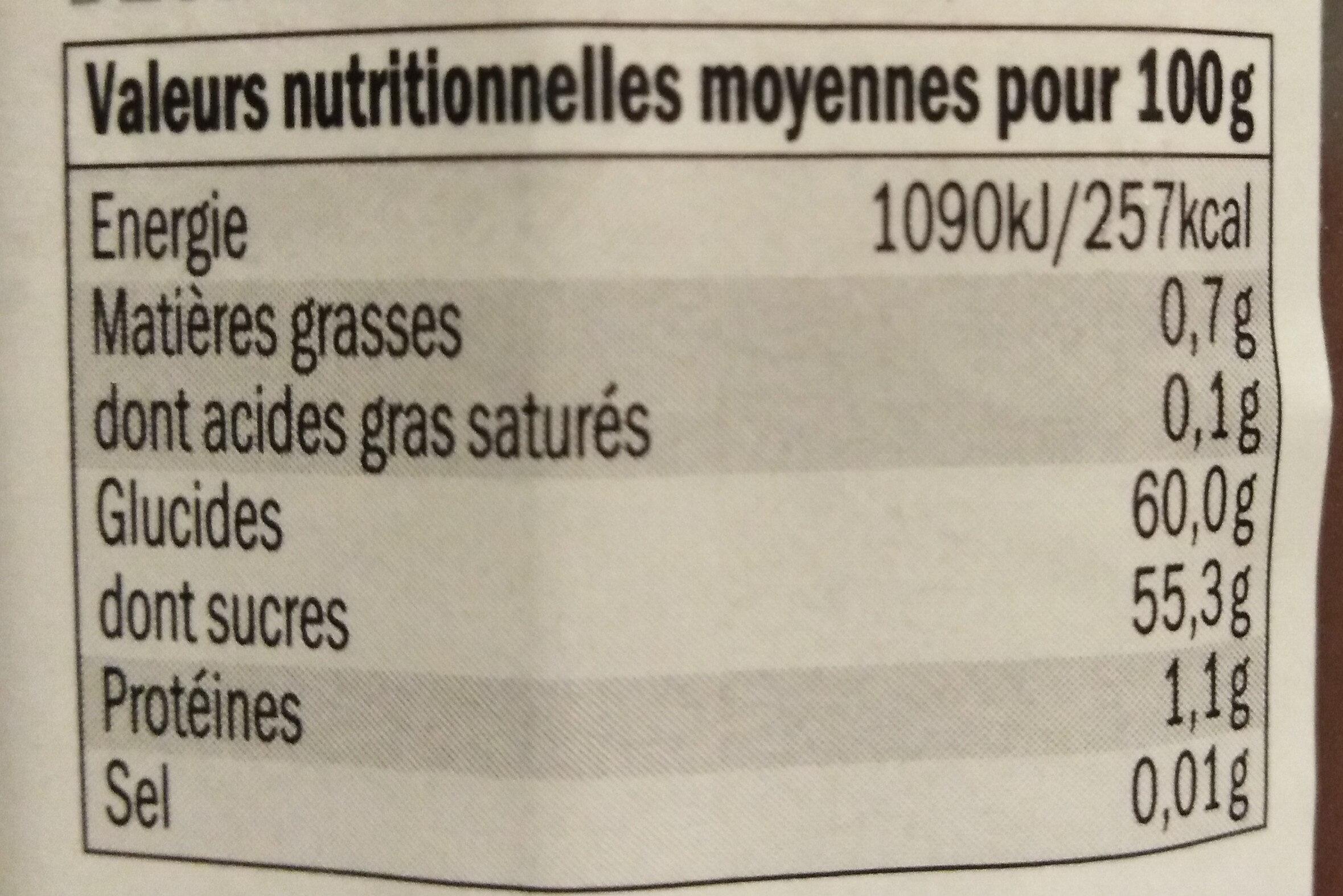 Crème de Marrons - Informations nutritionnelles - fr