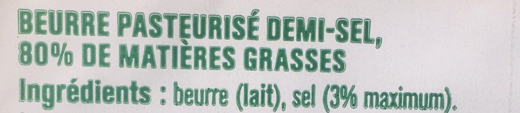 Beurre gastronomique demi sel - Ingrédients - fr