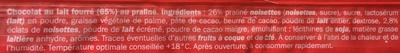 Rocher lait praliné - Ingredients - fr
