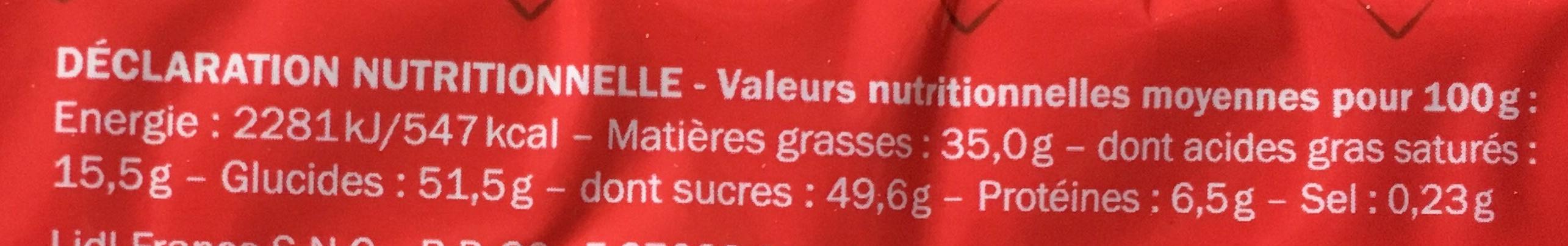 Rocher lait praliné - Nutrition facts - fr