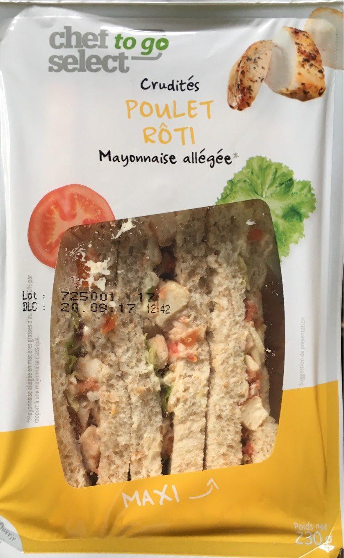 Sandwich Crudités Poulet Rôti Mayonnaise Allégée - Product