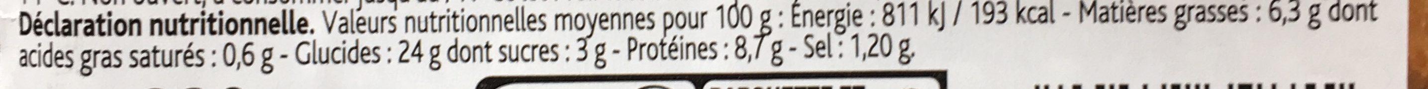 Sandwich Crudités Poulet Rôti Mayonnaise Allégée - Nutrition facts