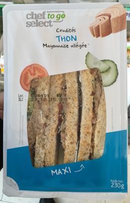 Crudités Thon Mayonnaise allégée Maxi - Product