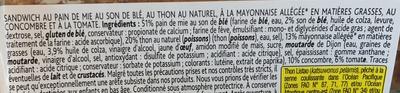 Crudités Thon Mayonnaise allégée Maxi - Ingrediënten