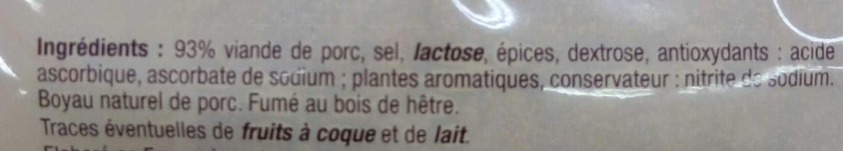 Diots de Savoie fumés - Ingrédients - fr