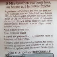 Mini Gâche Nature - Ingrédients - fr