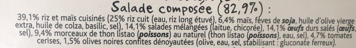 Crudité Thon Maïs et Oeuf Riz long - Ingrédients - fr