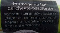Bûche de chèvre - Ingrediënten - fr