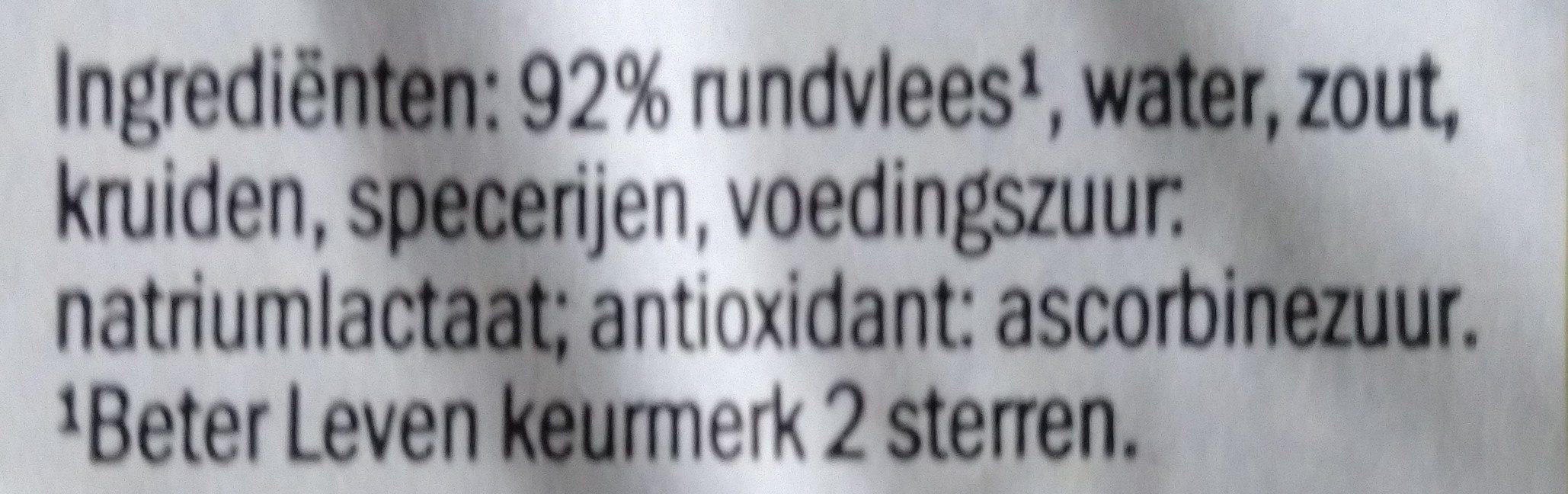 Ambachtelijke Hamburgers - Ingrédients - nl