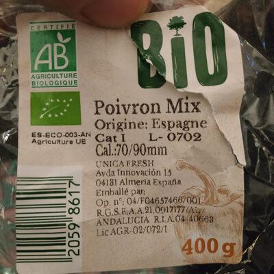 Poivrons bio - 成分 - fr