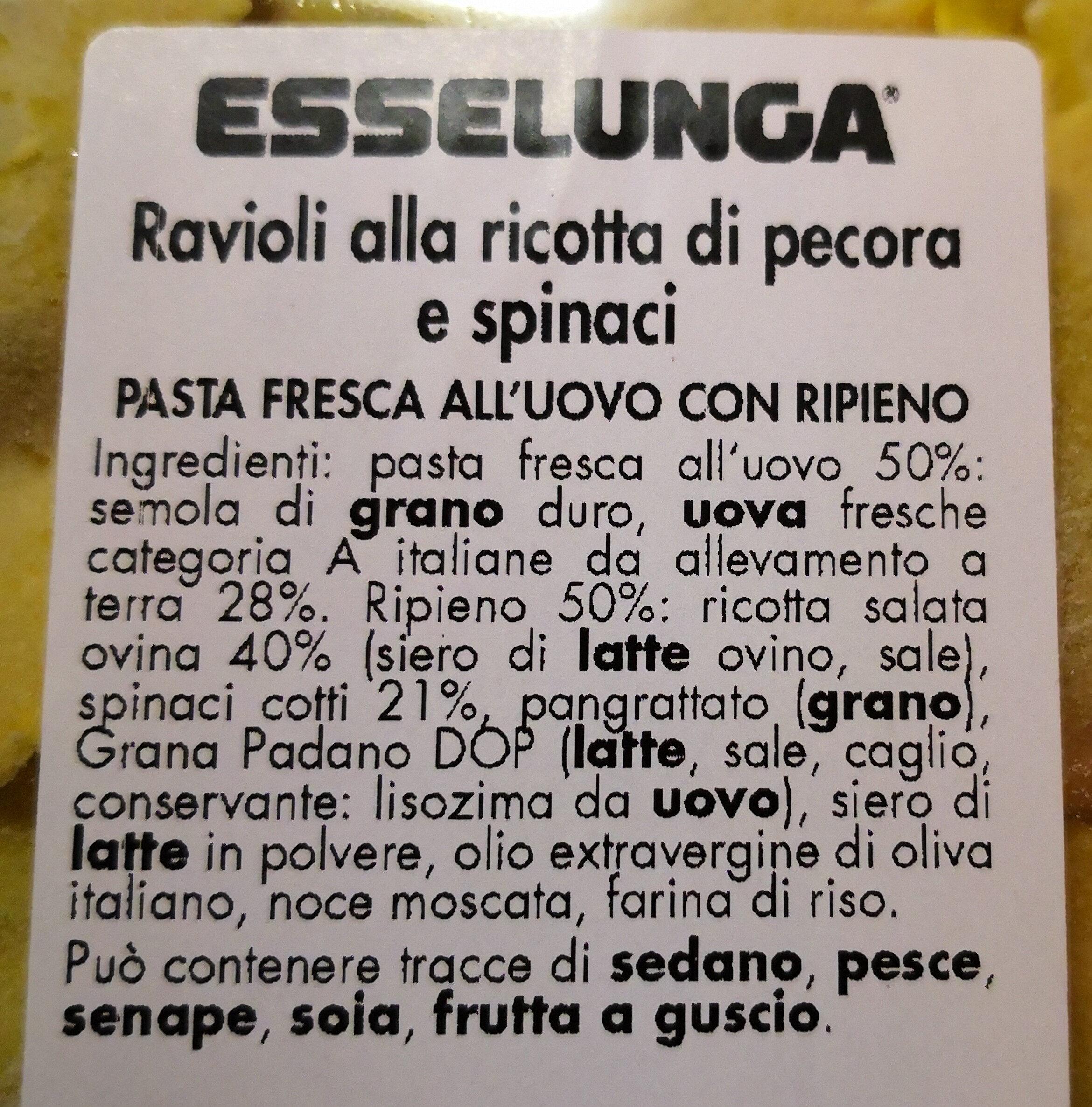 sfarinati ravioli ricotta e spinaci - Ingrédients - it