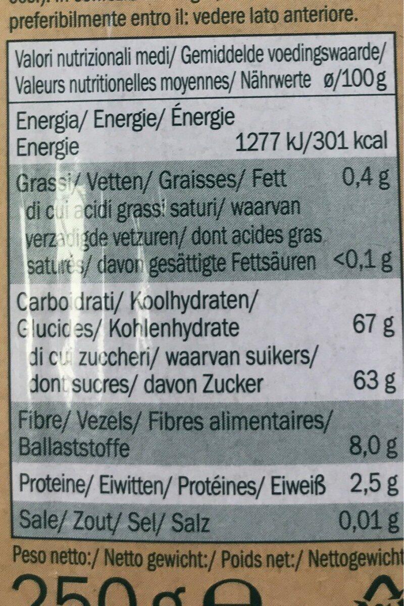 Alesto Fine Datteln - Información nutricional - es