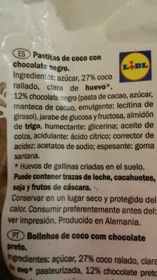 Coco - Ingrédients
