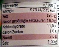 Vegetarischer Brotaufstrich Champignon - Nutrition facts