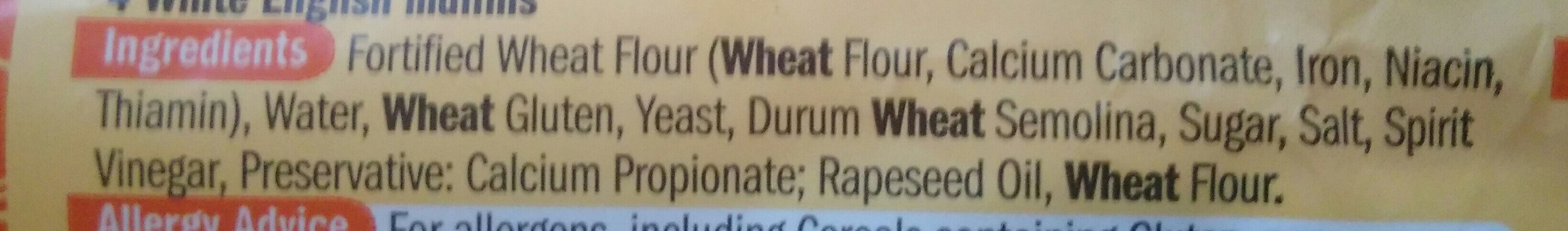 Muffins - Ingrediënten - en