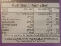 Plain Poppadoms - Nutrition facts - en