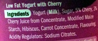 Berries & Cherries Yogurts - Ingredients