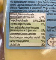 Gouda light 17% fat - Nutrition facts - en