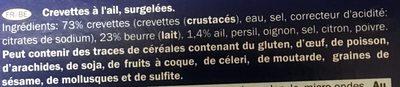 Cassolette de scampis a l'ail - Ingrédients - fr