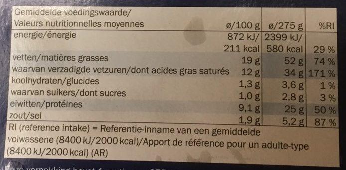 Cassolette de scampis a l'ail - Informations nutritionnelles - fr
