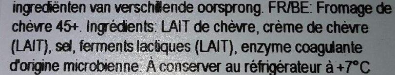 Fromage de chèvre frais - Ingrediënten - fr