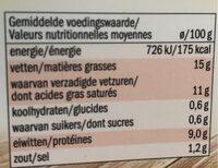 Fromage de chèvre frais - Voedingswaarden - fr