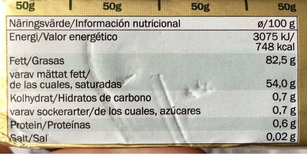 Golden Hills - Informazioni nutrizionali - de
