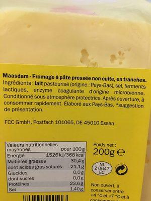 Molbona Maasdamer La Crema - Ingrediënten - fr