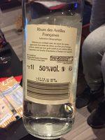 Rhum Blanc Traditionnel des Antilles Françaises - Produit