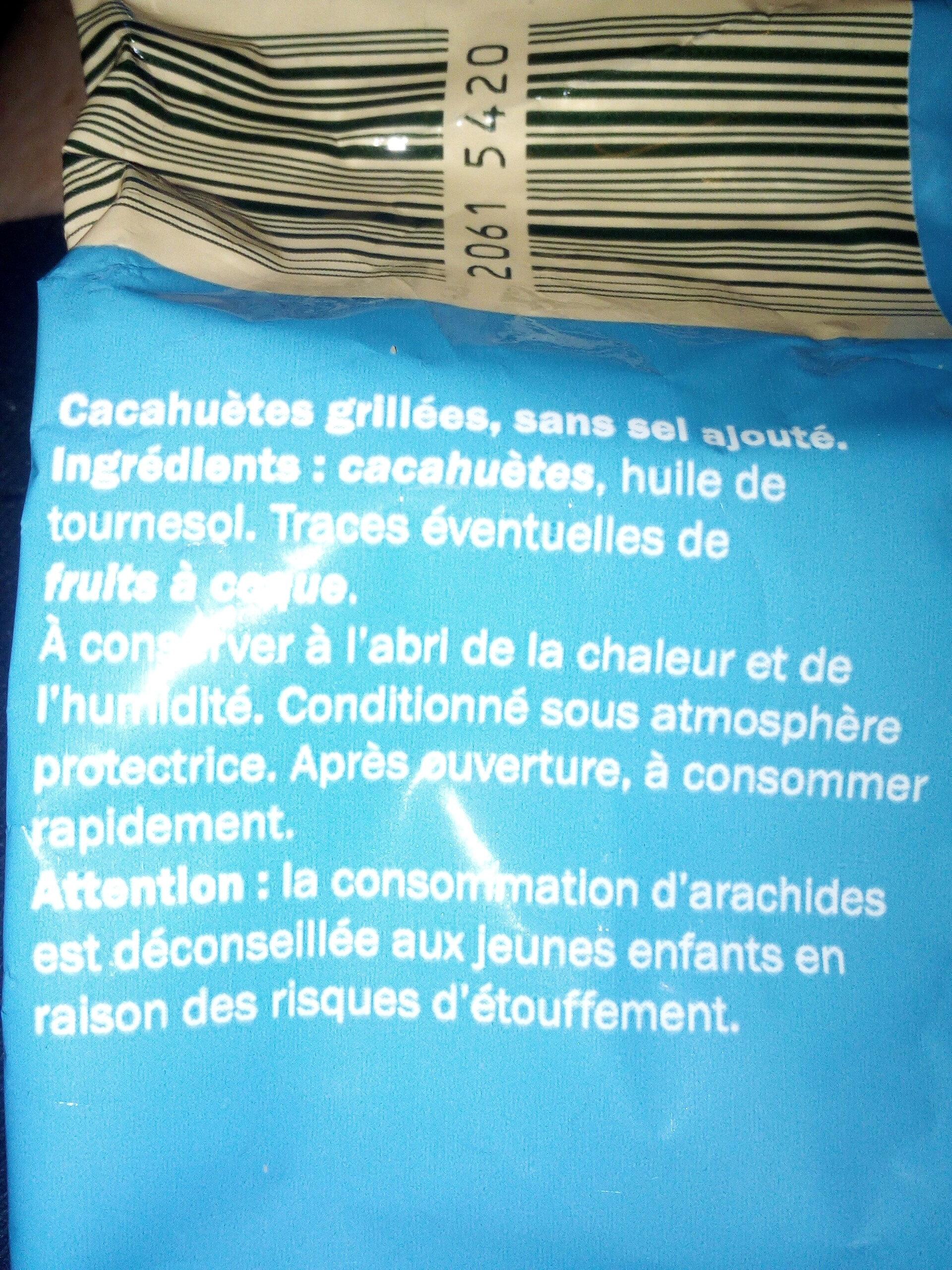 Cacahuètes grillées sans sel ajouté - Ingredients - fr