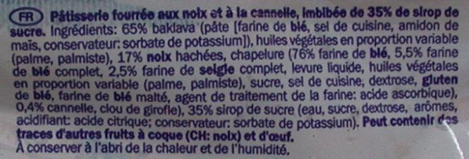 Baklava - Ingredientes