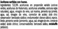 Aceitunas surtidas con hueso - Ingredients