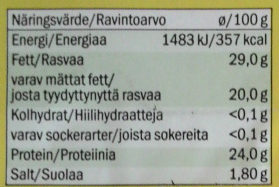 Gouda tierno - Nutrition facts - sv