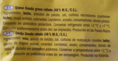 Gouda - Ingrediënten