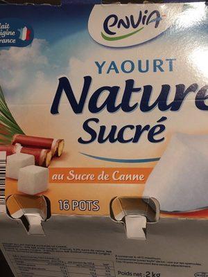 Yaourt nature sucré au sucre de canne - Produit