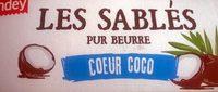 Les Sablés Pur Beurre Cœur Coco - Product - fr