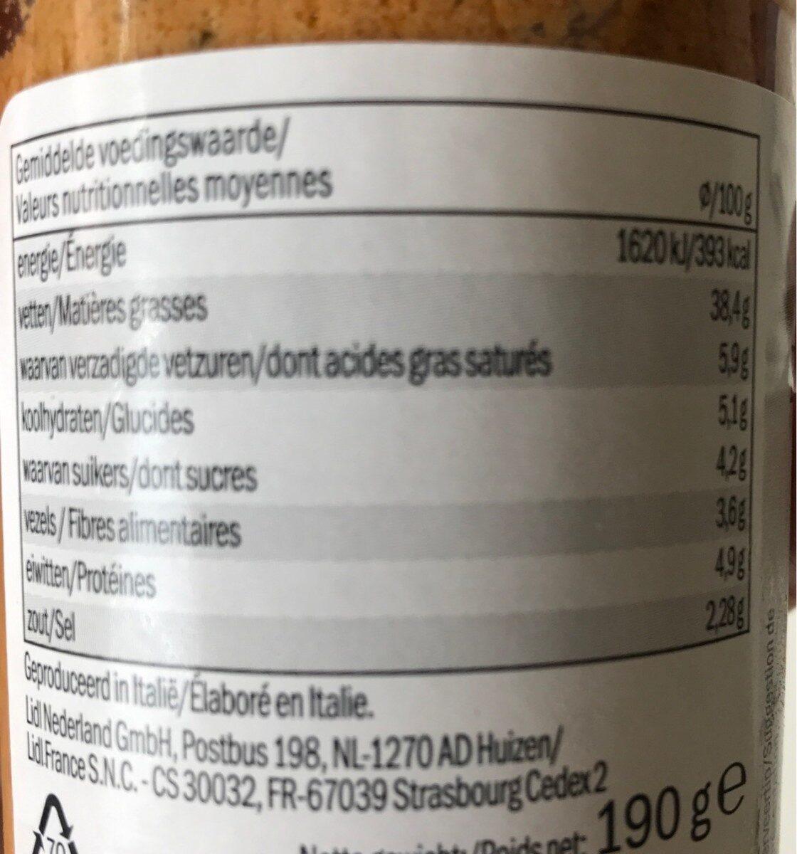 Deluxe Pesto Ricotta walnuss - Informations nutritionnelles - fr