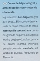 Spécial Flakes chocolat noir - Ingredientes - es
