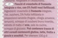Flakes red berries - Ingredienti - it