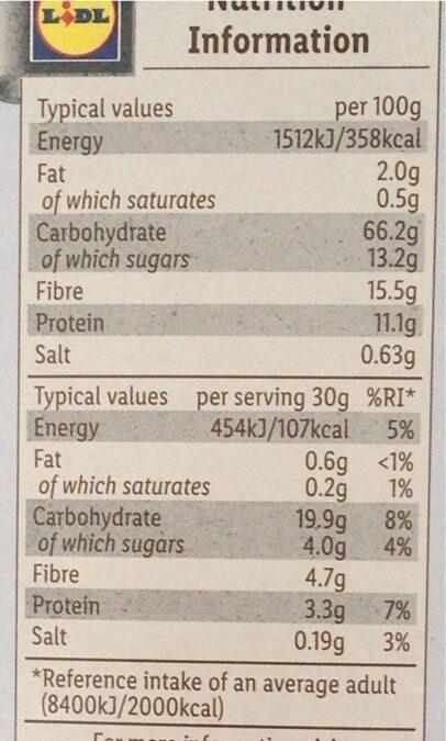 bran flakes - Voedingswaarden - fr