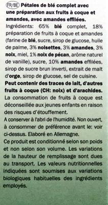 Vitelle nut clusters - Ingrédients - fr