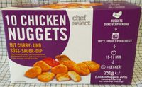 10 nuggets de poulet sauces curry & barbecue - Produkt - de