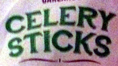 fresh celery sticks - Ingredients