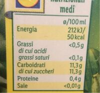 Succo di ananas - Informations nutritionnelles - it